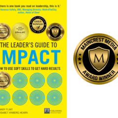5th book award for The Leader's Guide to Impact